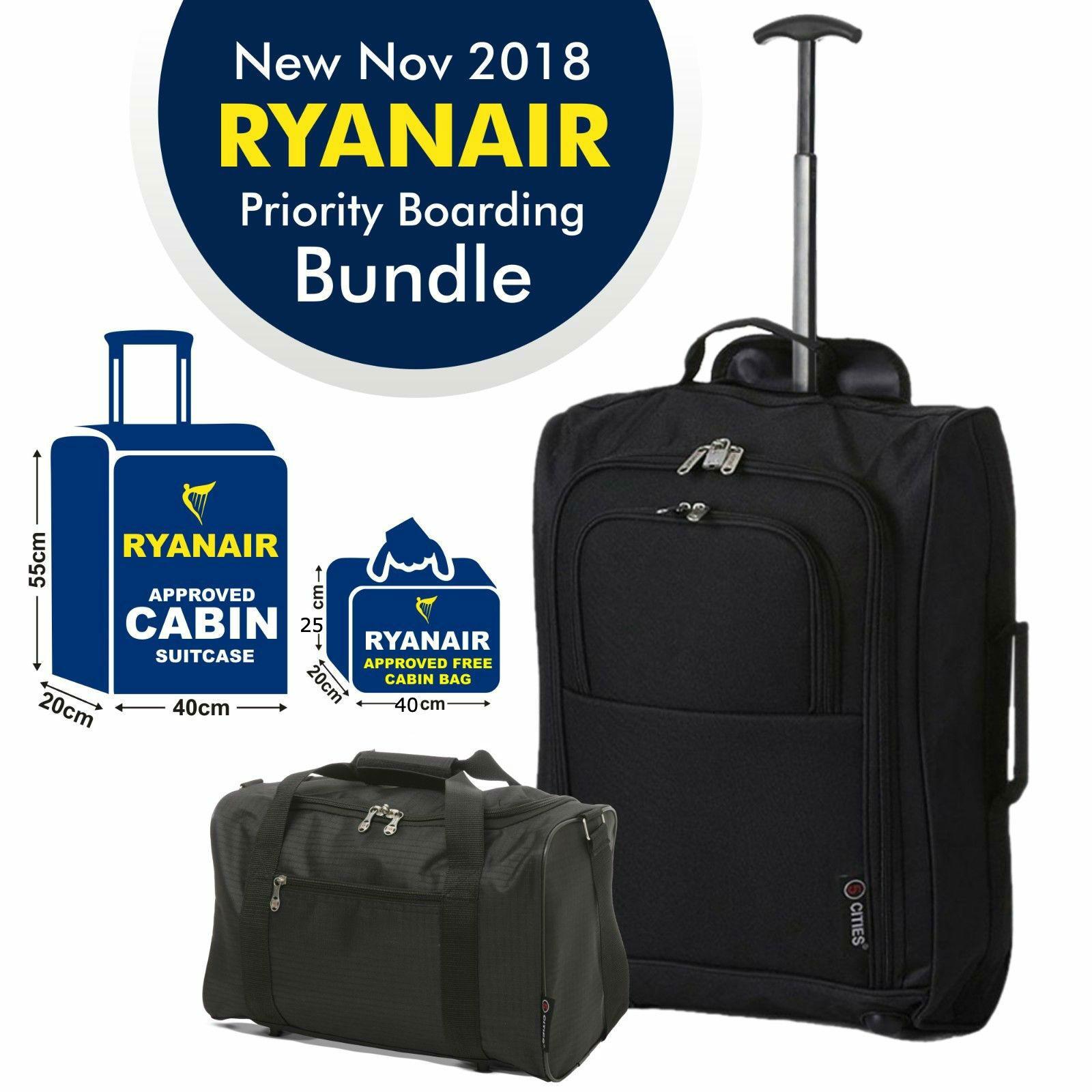 Lot De 1 Ou 2 Ryanair Bagage Main 40x25x20 Holdall