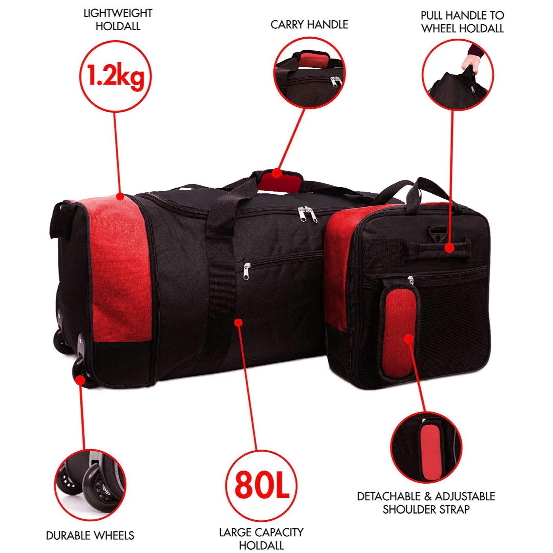 Xxl Extra Large Travel Luggage Wheeled Trolley Holdall