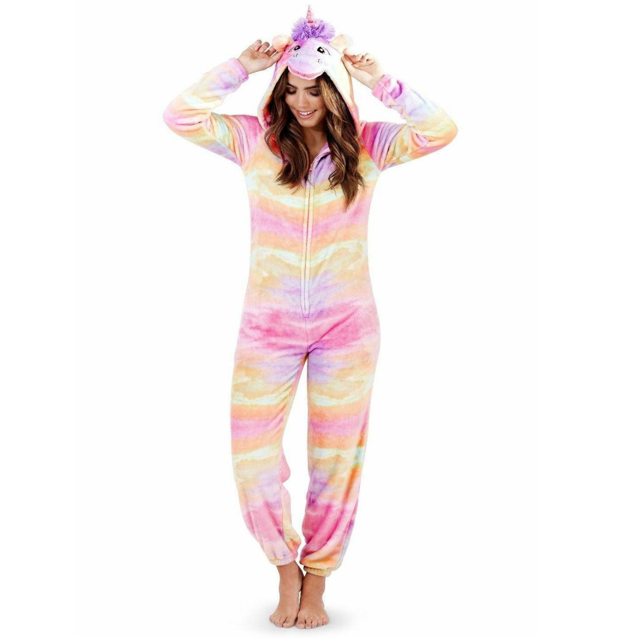 Loungeable Boutique Girls Bright Rainbow Soft Fleece Novelty Unicorn Hood Bath Robe in 3 UK Kids Sizes
