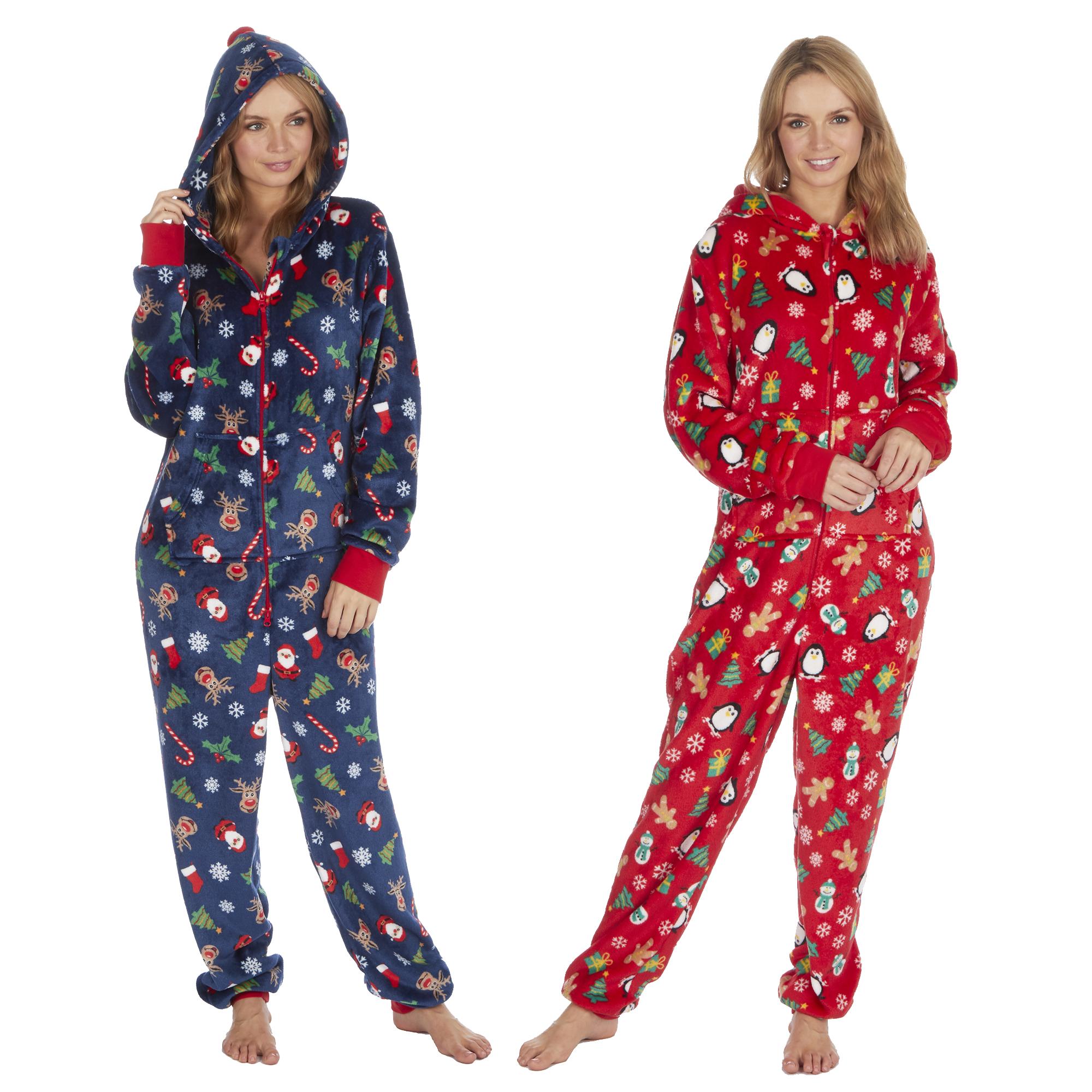1Onesie Matching Mother /& Daughter Onezee Christmas Fleece Pyjamas Pjs Girls