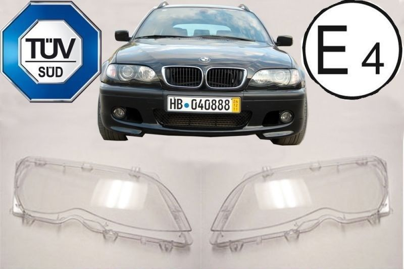 bmw 3er e46 linsen scheinwerferglas streuscheiben limo. Black Bedroom Furniture Sets. Home Design Ideas
