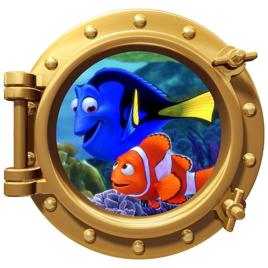 Wall Art Decor FINDING NEMO Porthole Kids Bedroom Stickers