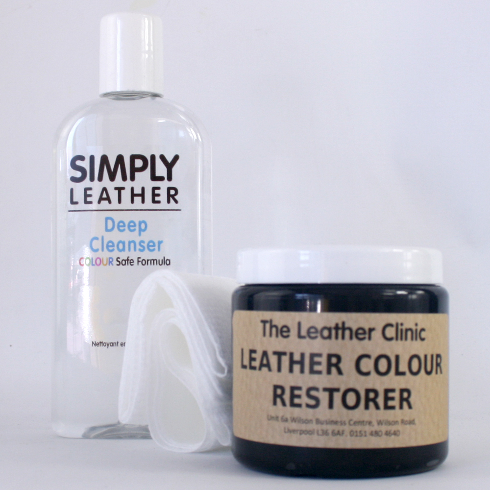 leather cleaner colour restorer restoration kit for sofa car interior etc ebay. Black Bedroom Furniture Sets. Home Design Ideas