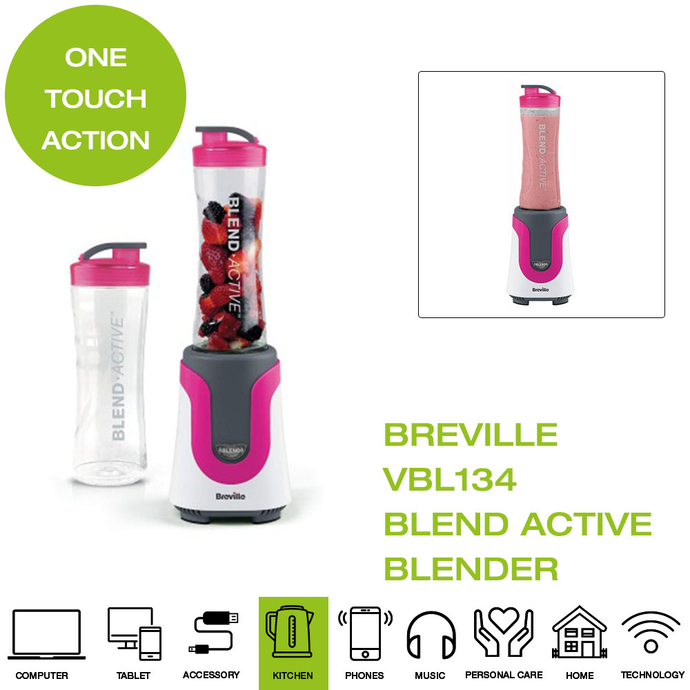 Active Personal Blender Healthy Drinks Smothie Maker Bottle 600ml One-touch Mode