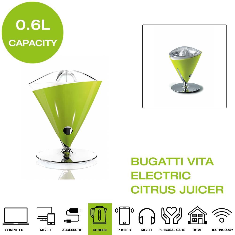 Details about *Brand New* Bugatti Vita 55 VITACM Electric Citrus Juicer Green