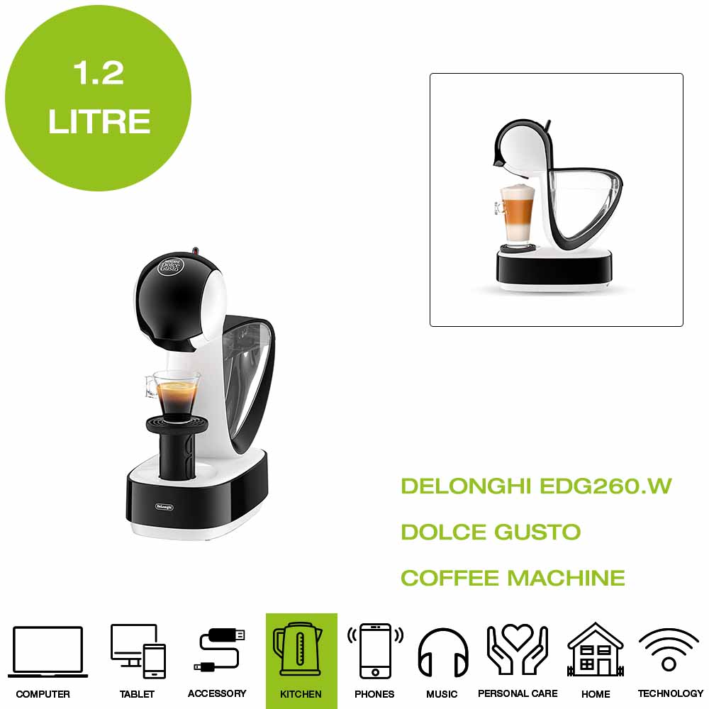 Details about *Brand New* De'Longhi EDG260.W Dolce Gusto Infinissima Coffee Machine White