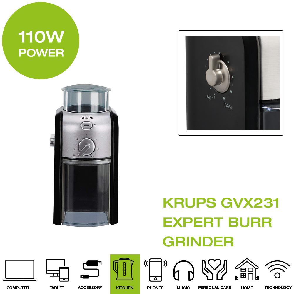 Krups Expert Burr Coffee Grinder - Black   eBay