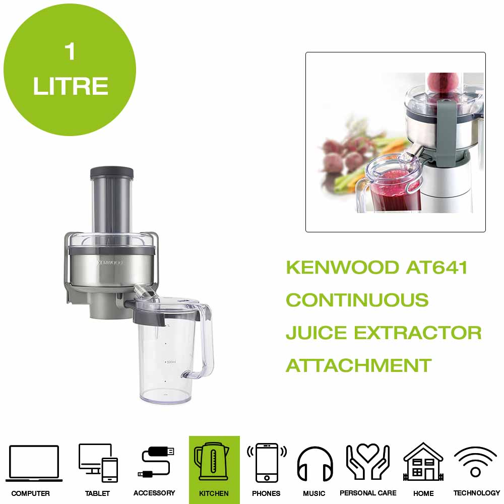 Details about *Brand New* Kenwood AT641 Vita Pro Active Juice Extractor Attachment Silver