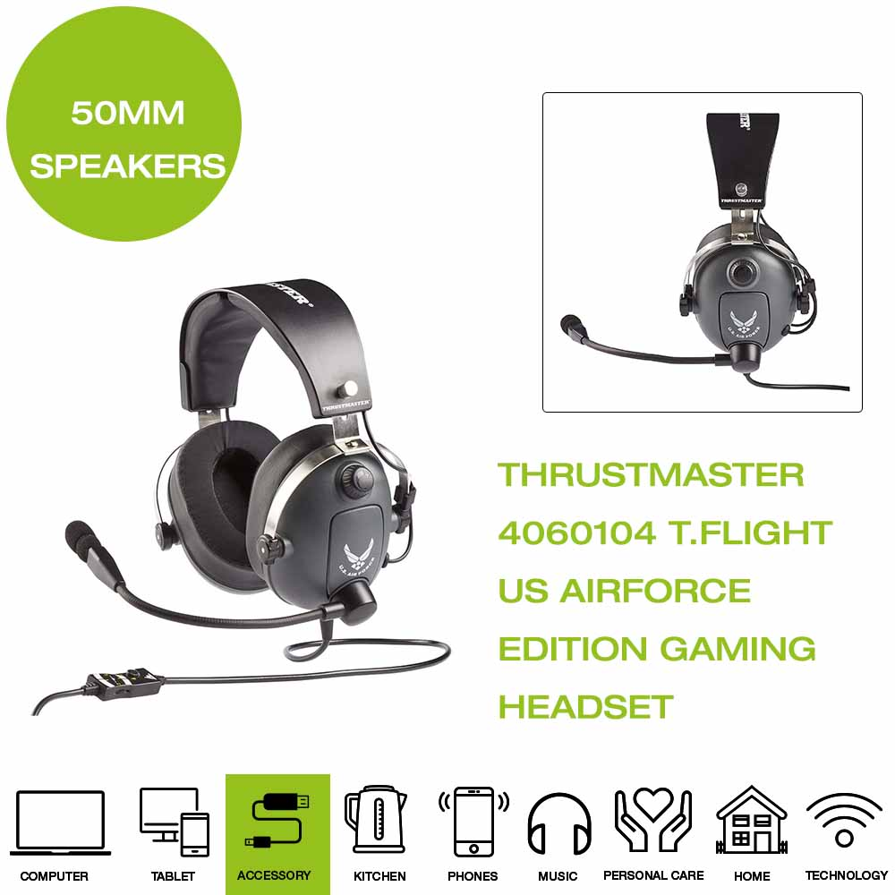 Details about *Brand New* Thrustmaster 4060104 T.Flight US Air Force Edition Gaming Headset