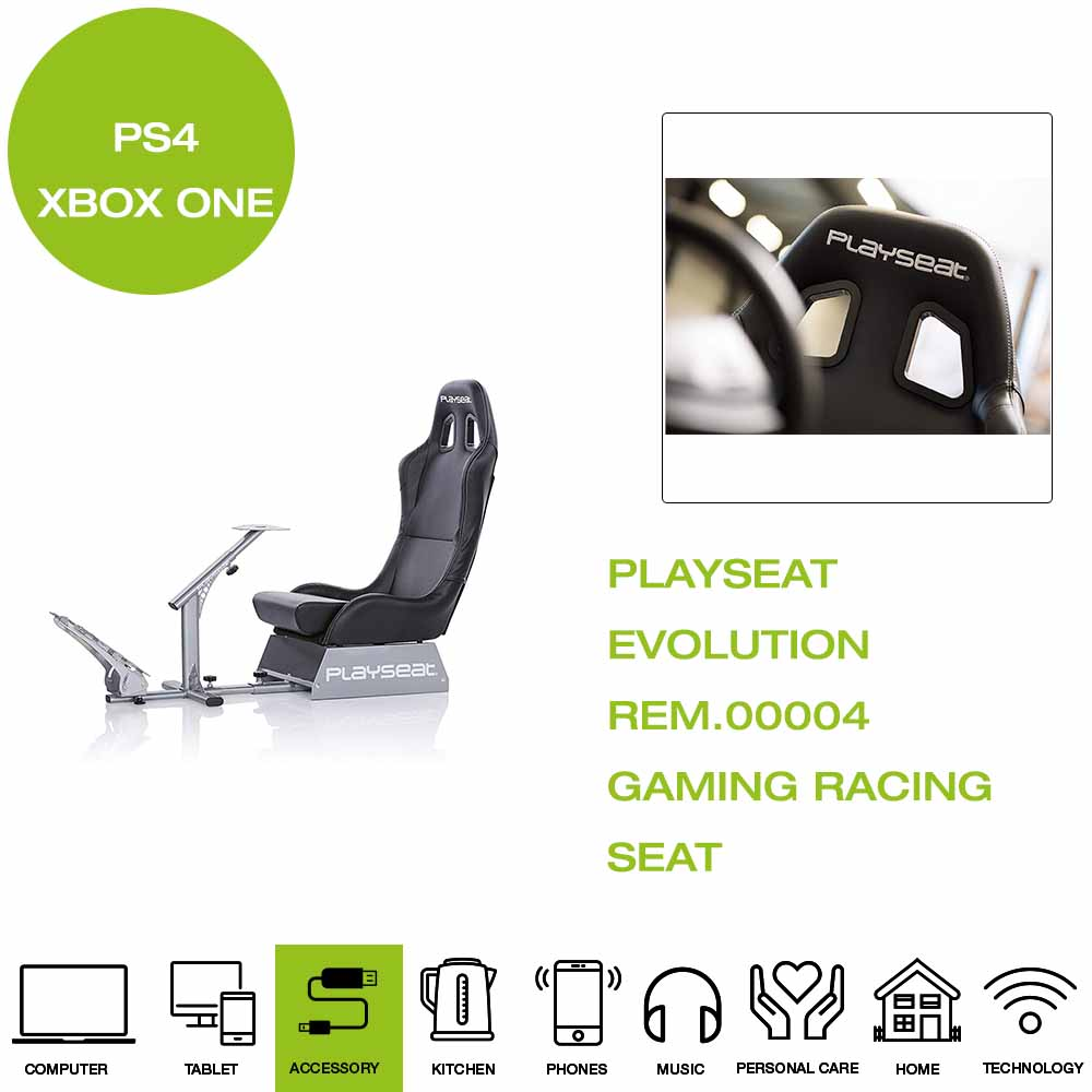 Details about *Brand New* PlaySeat Evolution REM 00004 Gaming Racing Seat,  Foldable - Black