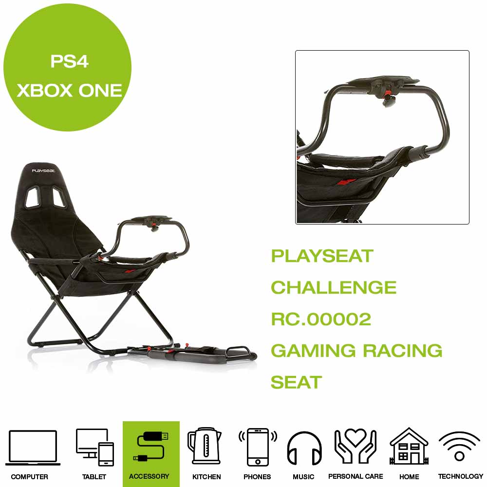 2e0bd5d7897 *Brand New* PlaySeat Challenge RC.00002 Gaming Racing Seat, Foldable - Black